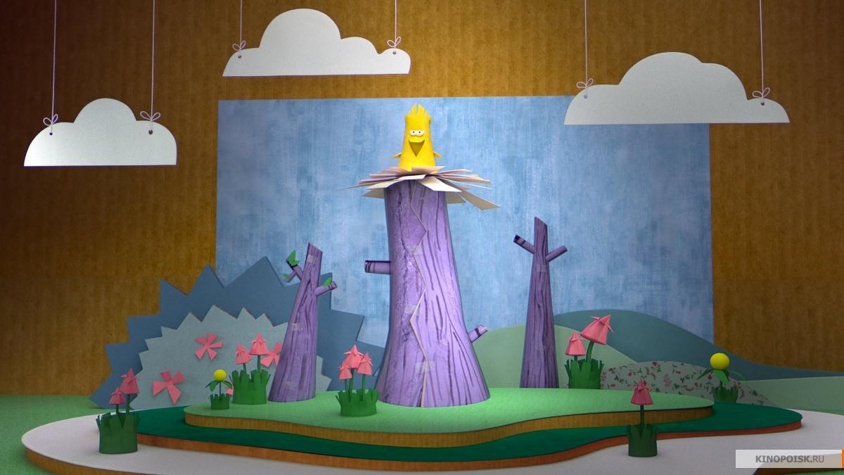 Как сделать из бумаги сойку Аглаю из мультфильма Бумажки? 95