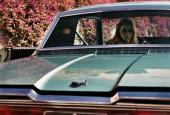Дама в очках и с ружьем в автомобиле 2015 кадры