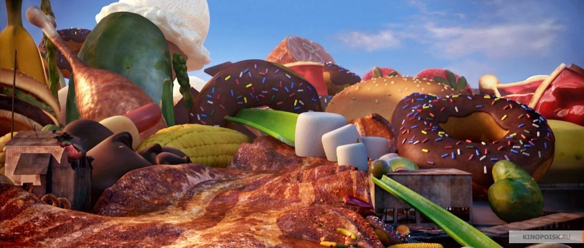 Картинки мультфильмы о еде