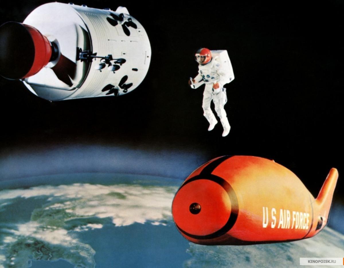 """спасатель с ракетоплана X-HV подлетает к погибающему """"Аполлону"""""""
