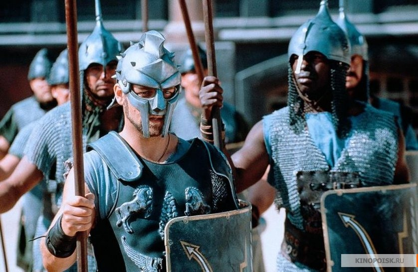 "a review of the film the gladiator ""gladiator"" isn't a christian film per say but it does clearly separate good from evil which is refreshing in a desensitized movie industry."