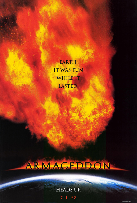 armageddon movie poster - 580×859