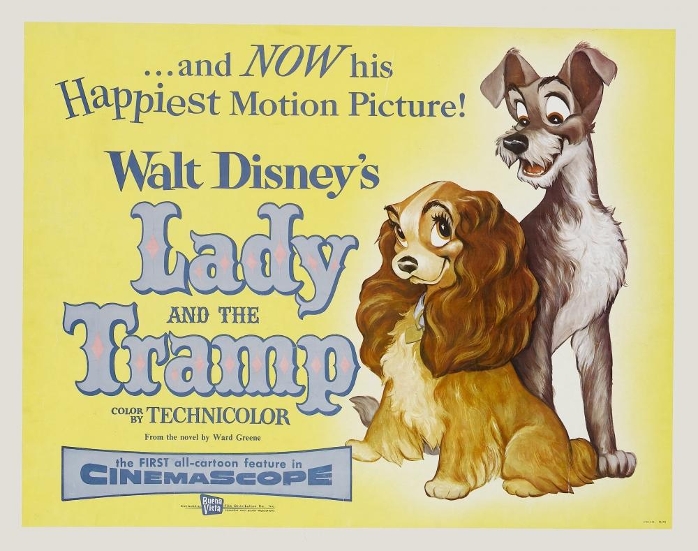 леди и бродяга постеры открытка просто