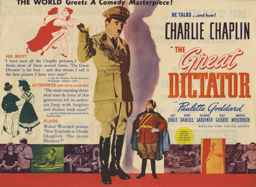 a review of the movie the great dictator User reviews for the latest english drama classic movie the great dictator released in 1940 on bookmyshow.