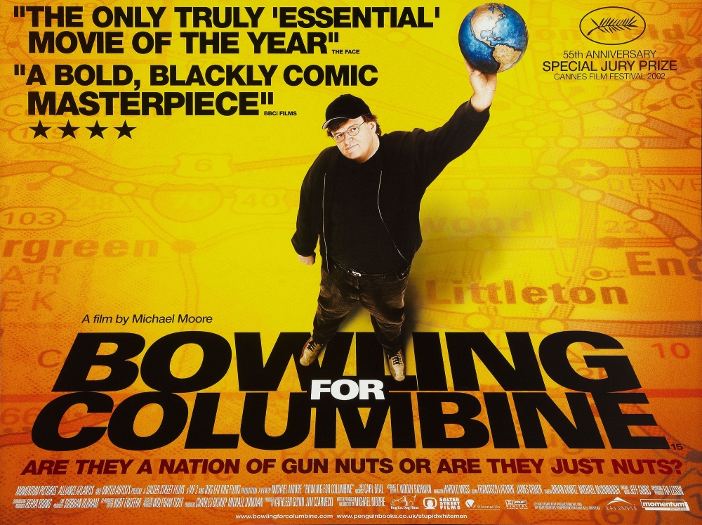 the issue of gun violence in america in bowling for columbine a documentary by michael moore Political documentary filmmaker michael moore explores the circumstances that lead to the 1999 columbine high school massacre, and more importantly, the roots of america's predilection for gun violence.