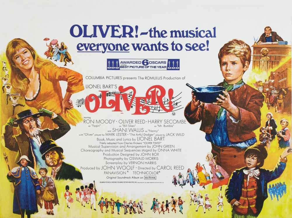 a review of oliver a 1968 british musical drama film by carol reed