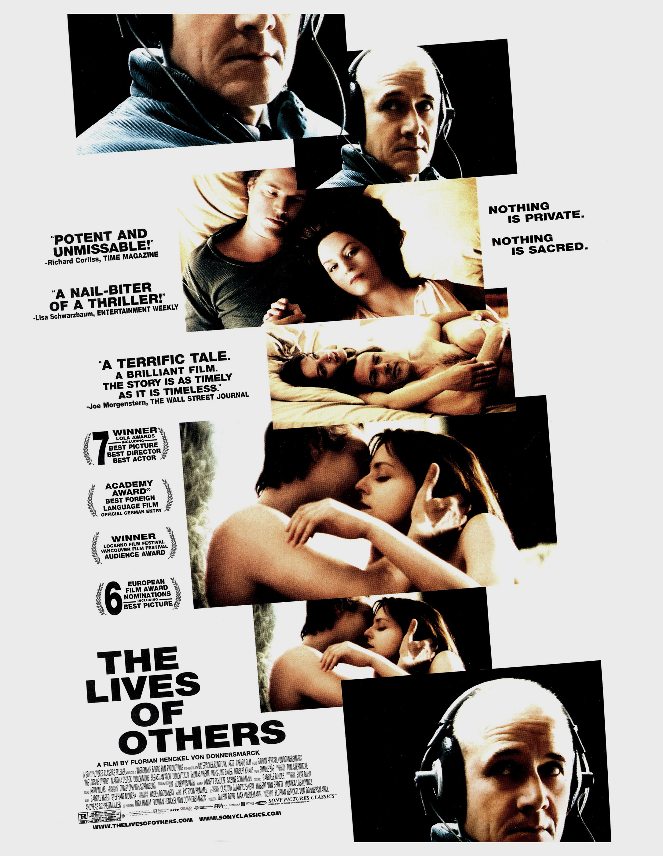 movie review the lives of others At once a political thriller and human drama, the lives of others begins in east berlin in 1984, five years before glasnost and the fall of the berlin wall and ultimately takes us to 1991, in what.
