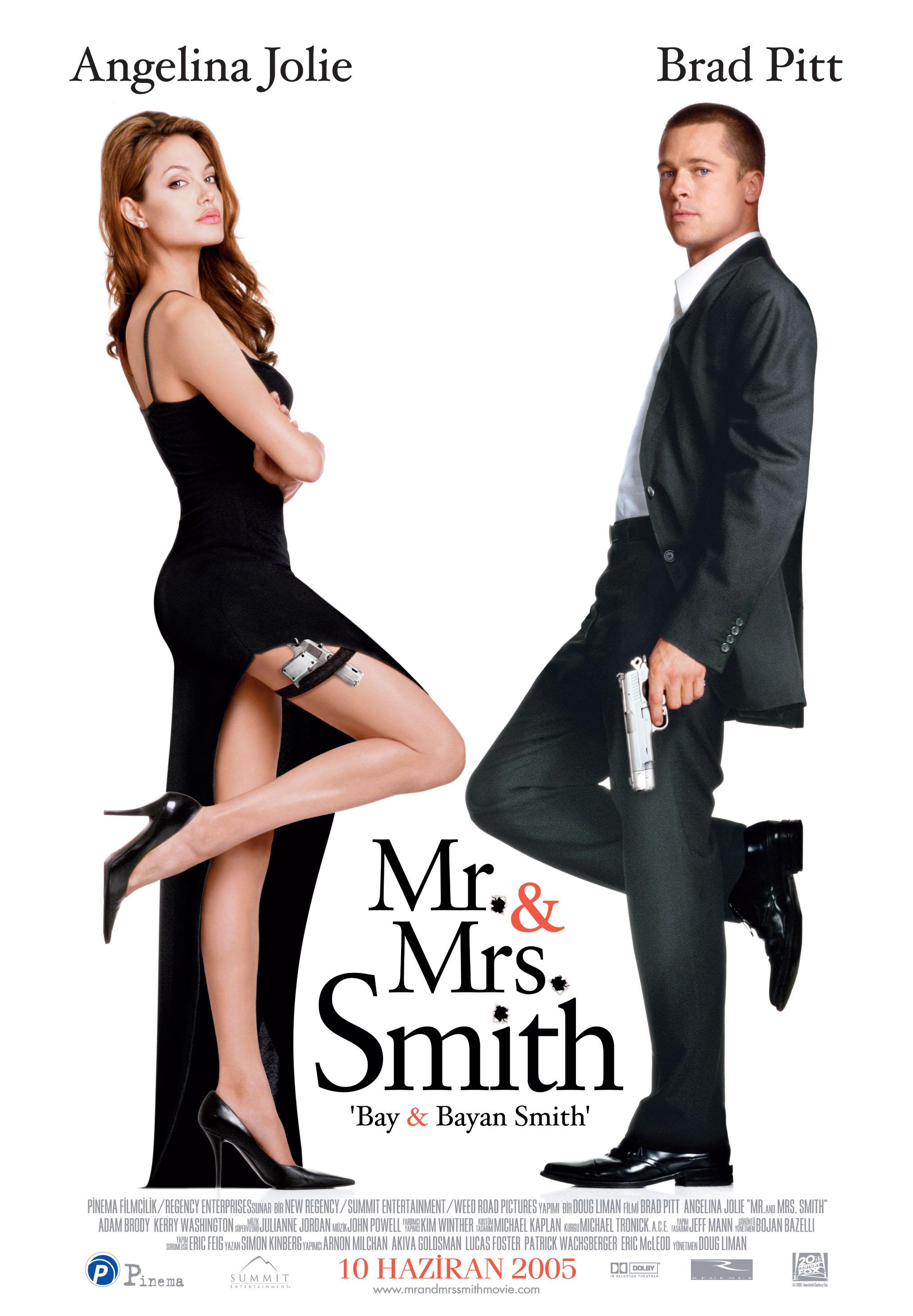 мистер и миссис смит постер на английском очень