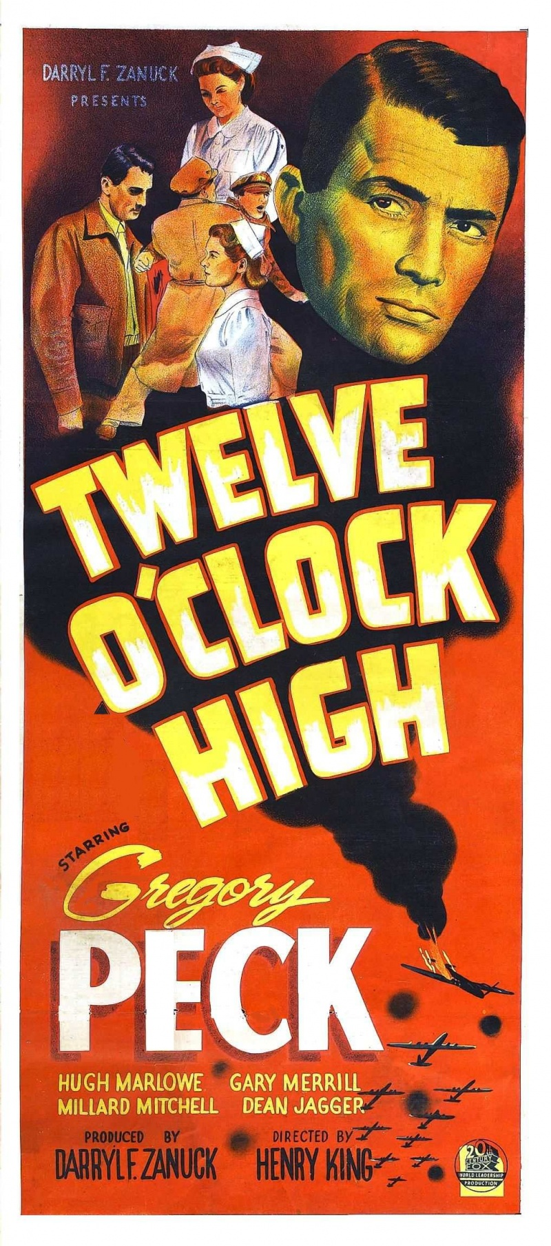 twelve o clock high Watch video directed by henry king with gregory peck, hugh marlowe, gary merrill, millard mitchell a hard-as-nails general takes over a bomber unit suffering from low morale and whips them into fighting shape.
