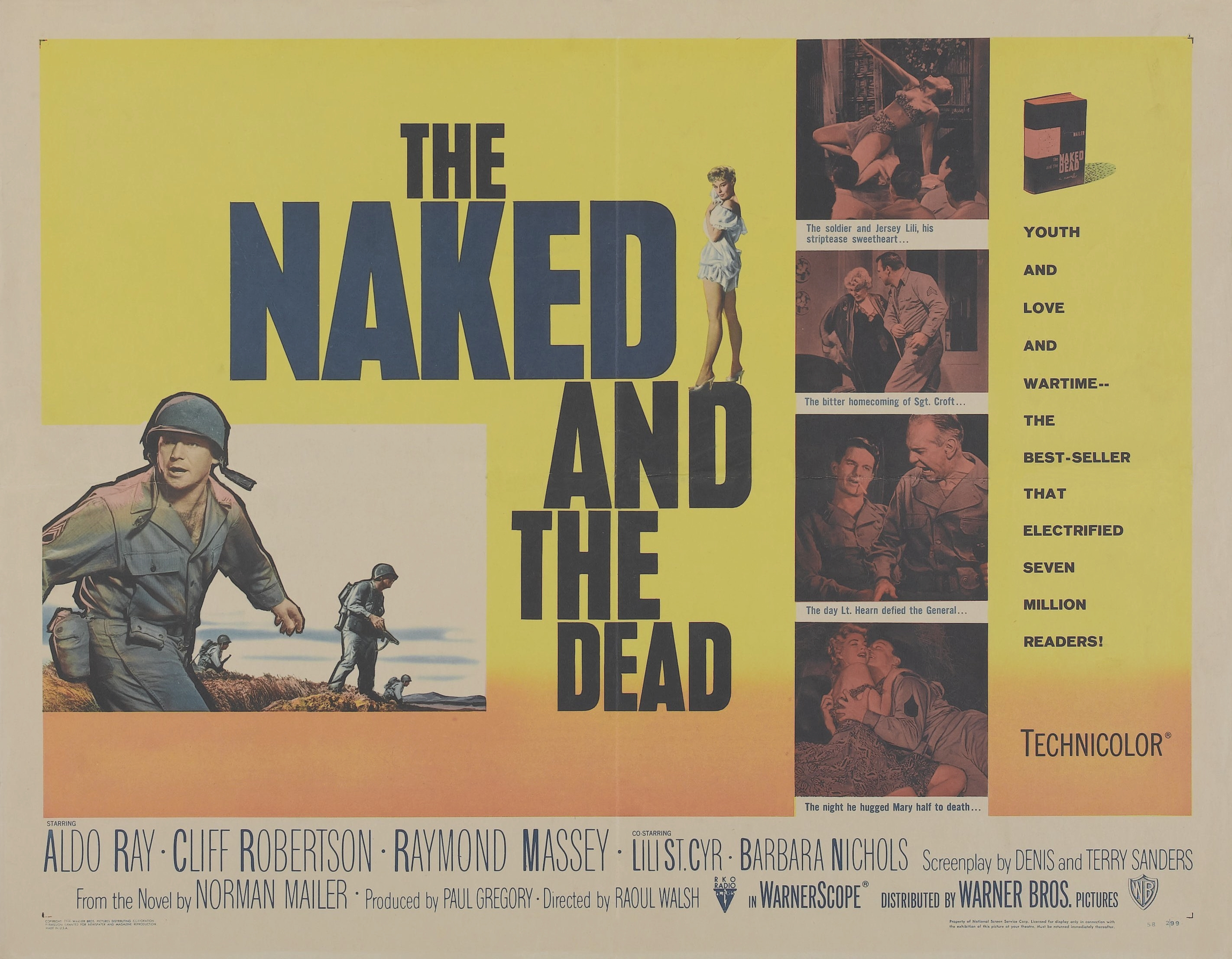 The naked and the dead' and opening line