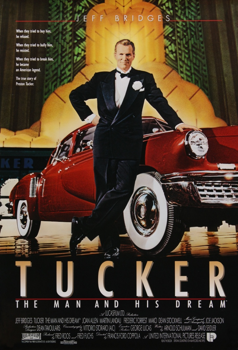 tucker movie concepts Los angeles -- john richard tucker, whose father, preston thomas tucker, created the tucker automobile in the late 1940s, died here sunday, oct 5, from stroke complications he was 78 for many years, tucker was vice president of general employment corp in chicago and los angeles he then owned jane allen.