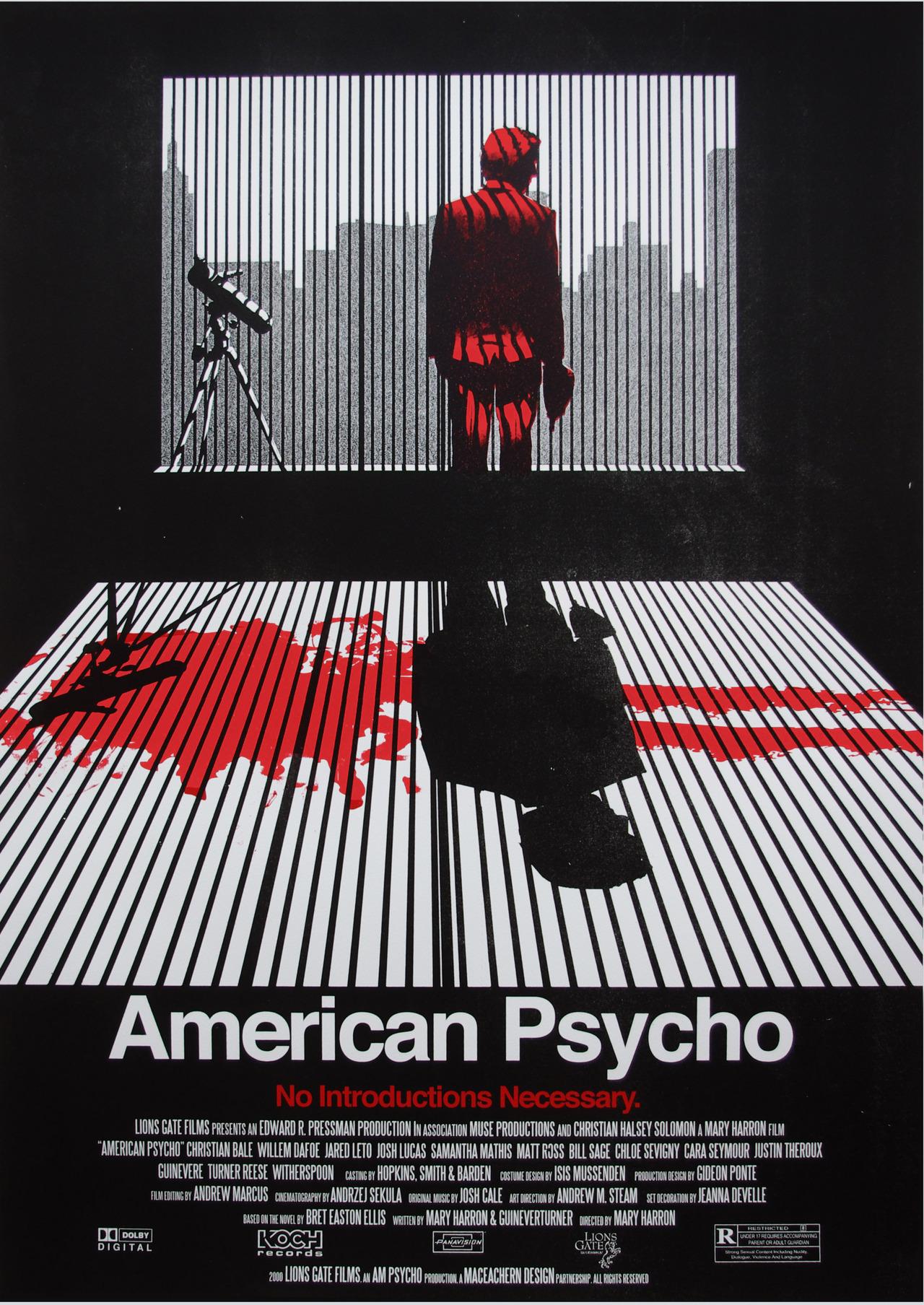 кино американский психопат постеры дело модный цвет