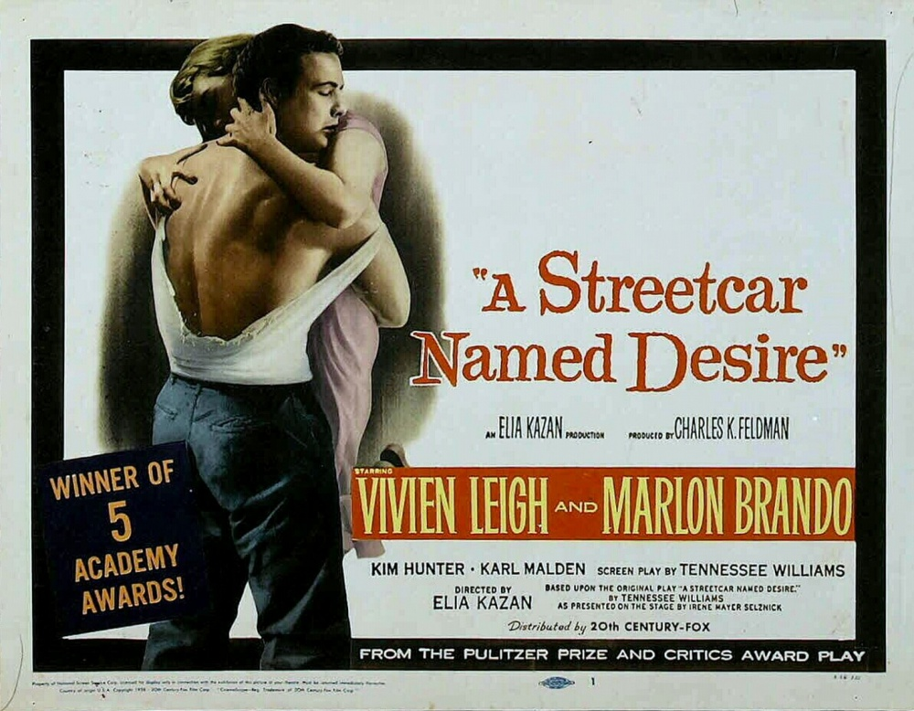 an overview of the film a streetcar named desire by tennessee williams Drama, uncategorized director: elia kazan starring: ann dere, buck woods, charles wagenheim and others a streetcar named desire is the film adaptation from the play by tennessee williams and directed by elia kazan.
