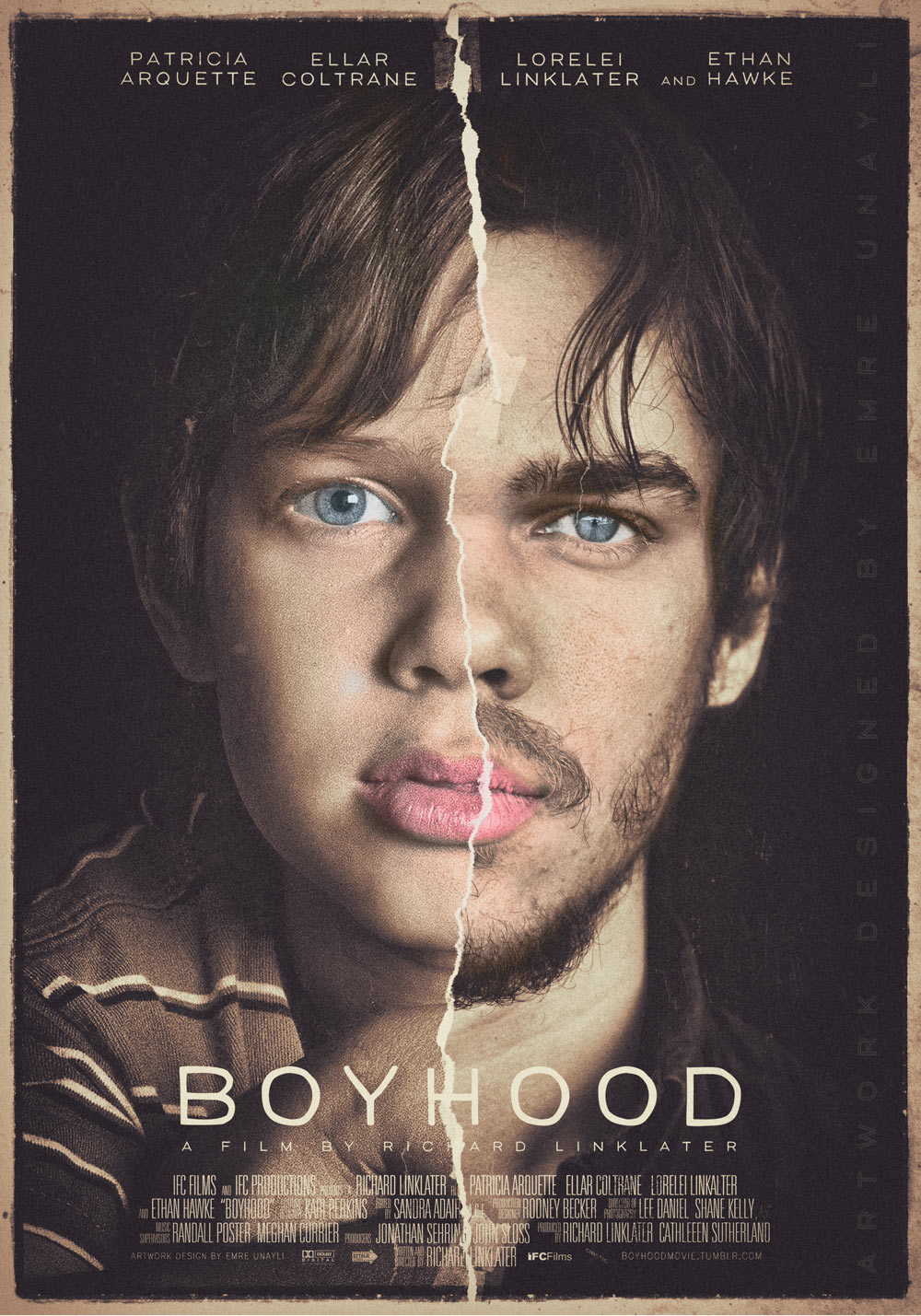 a review of the life span development in boyhood a movie by richard linklater