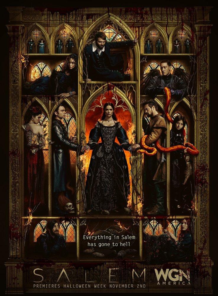 Постер к релизу Салем / Salem (Сезон 3 / Эпизоды  01-10 (из 10))  [2016 / Фэнтези, Триллер, Драма / SunshineStudio / HDTVRip]