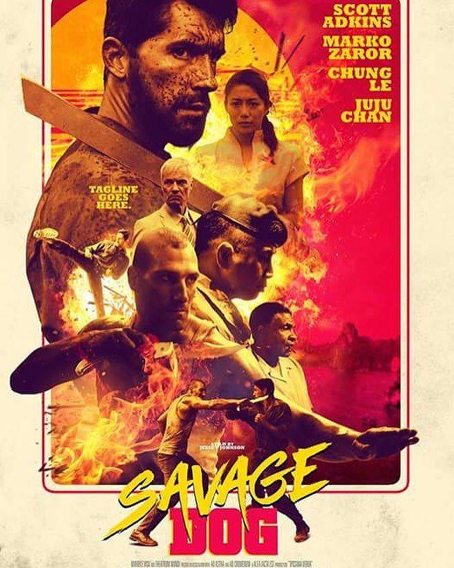 Постер к релизу Дикий пёс / Savage Dog [2017 / Боевик / HDRip]
