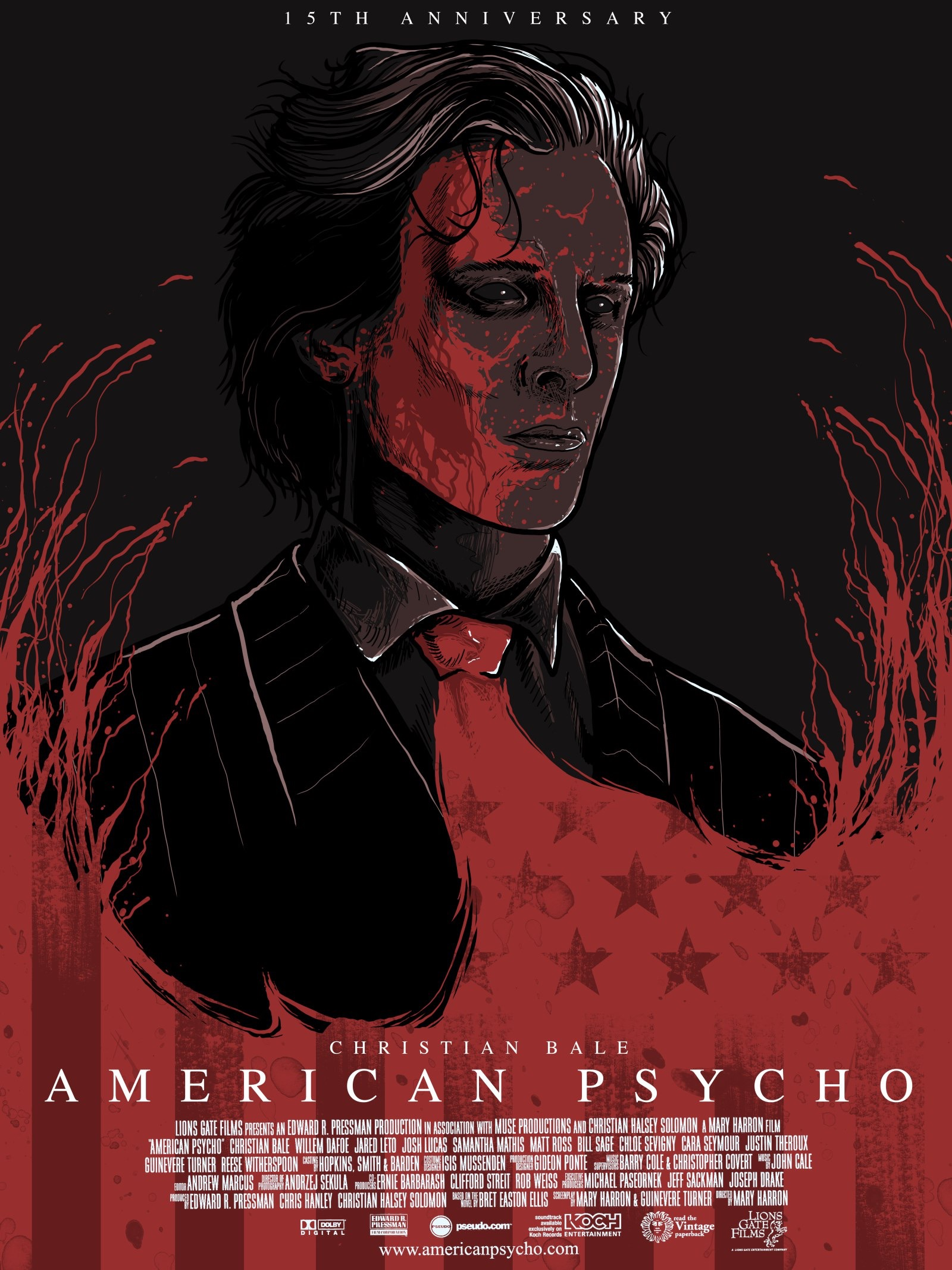 пожарного кино американский психопат постеры вода