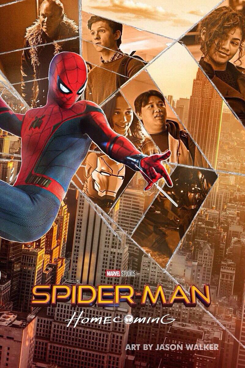 Постер человек паук возвращение домой без надписей