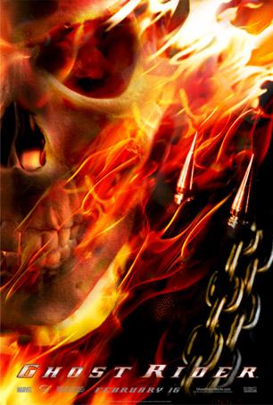 Чтобы спасти своего отца от верной гибели, байкер-экстремал Джонни Блэйз заключает сделку с дьяволом, объектом которой является его бессмертная душа. Проходят годы, и дьявол предъявляет свои права по контракту. Он превращает Джонни в Призрачного Гонщика, агента потусторонних сил, обладающего сверхчеловеческими способностями. С наступлением ночи он проносится по городу на своем «адском» Харлее и собирает людскую «дань» для своего нового хозяина. И хотя контракт — бессрочный, и колесить бы ему до конца своих дней, оставляя огненный след на темных улицах, но светлая сторона главного героя все-таки одерживает победу над силами тьмы.