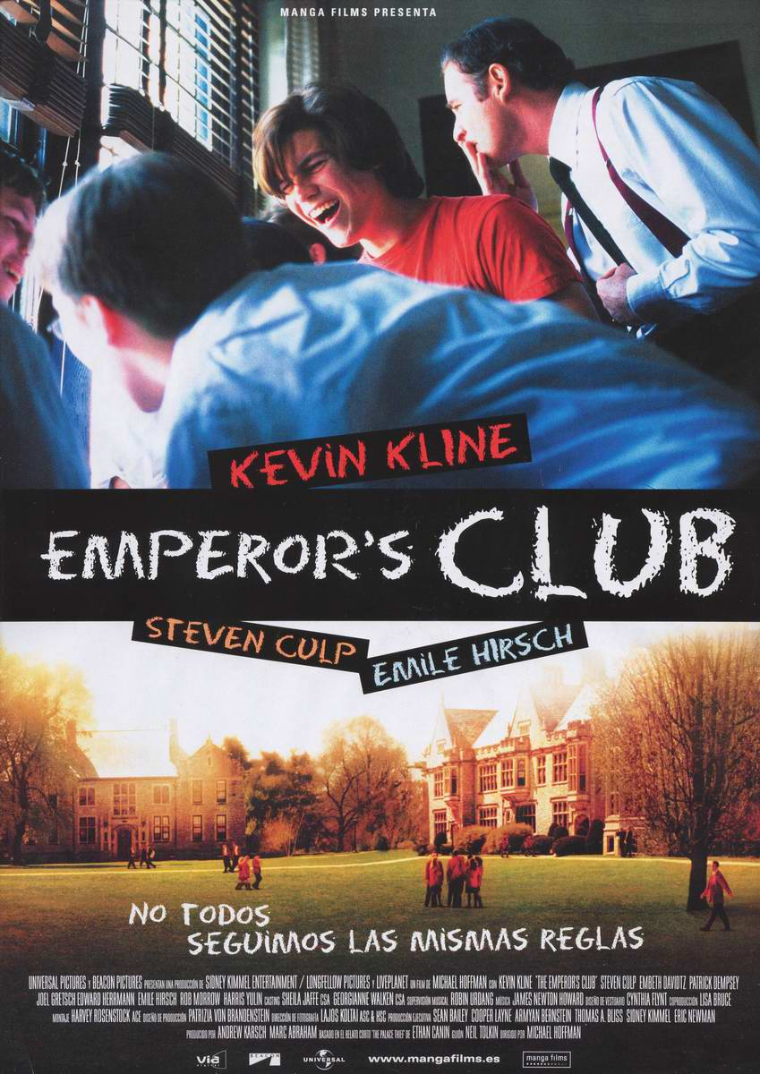 emperors club Moviescom, the ultimate source for everything movies, is your destination for new movie trailers, reviews, photos, times, tickets + morestay in the know with the latest movie news and cast interviews at moviescom.